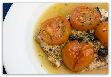 Roasted Salmon Puttanesca